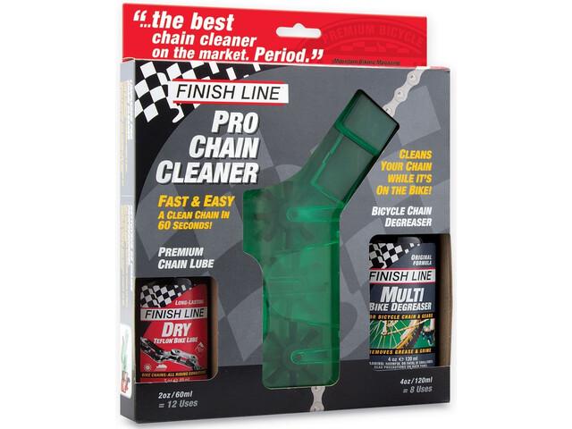 Finish Line kæderengøringssæt inkl. EcoTech+Dry grøn/sort (2019) | polish_and_lubricant_component